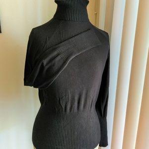 Black Sweater with Ribbed cuffs & waistline